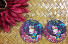 Load image into Gallery viewer, Graffiti Goddess Dangle Earrings