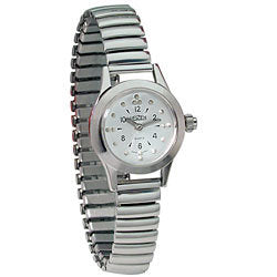 Watch, Ladies Braille, Silver Face, Silver Band
