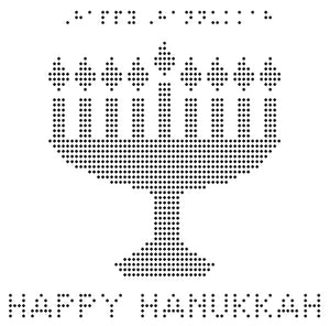 Happy Hanukkah - Braille