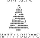 Happy Holidays - Braille