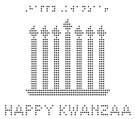 Happy Kwanzaa - Braille