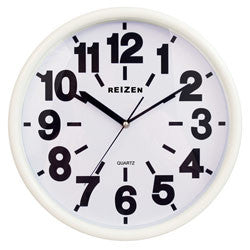 Clock - White Low Vision Wall Clock 14""