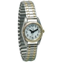 Watch - Tel-Time Lady's Low Vision Watch with White Clockface
