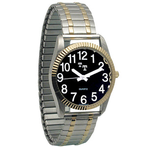 Watch - Men's 2-Tone Low Vision Watch with Black Clockface