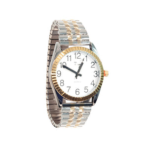 Watch - Men's 2-Tone Low Vision Watch with White Clockface