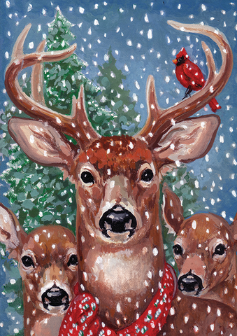 Deer in Winter by Marilyn Szalay