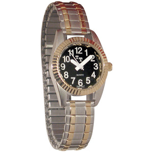 Watch - Tel-Time Lady's Low Vision Watch with Black Clockface