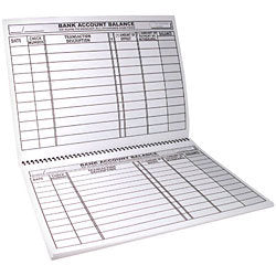 Large Print Checks & Deposit Register