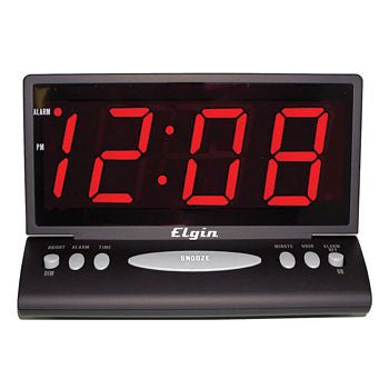 Clock Low Vision w/ Jumbo Red LED Display and Alarm