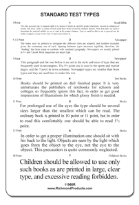 "Standard Reading Test Card ""Children Should be allowed...)"