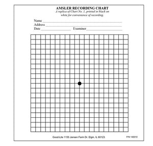 Amsler Recording Charts, pad of 50.