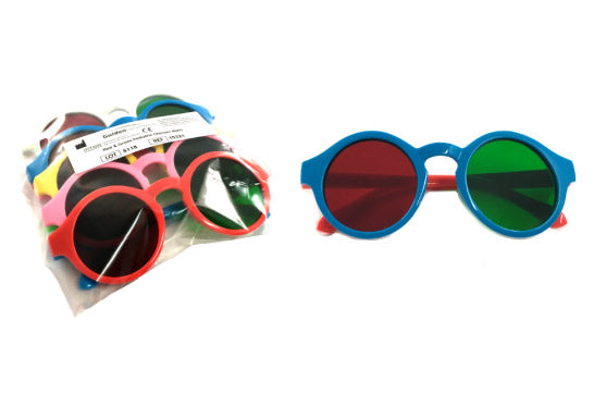 Red/Green Pediatric Glasses (6 pack)