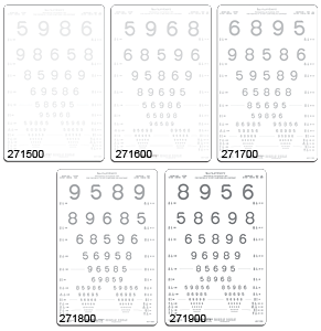 Lea Numbers Translucent Contrast Chart Set  1.25% to 25%