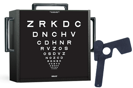 Super Pinhole Macula Cabinet with One Letter Chart, Key Card and Pinhole Spectacle Occluder
