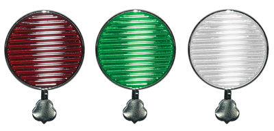 Trial Rings, Set of three Maddox lenses (Red, Green and White), maddox aligned to handle.