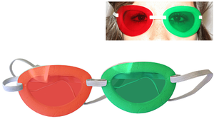 Anti-suppression Red/Green Goggles, Large, Pack of 6