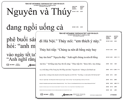 Vietnamese Continuous Text Near Card