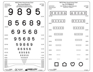NECO Near Visual Acuity Card