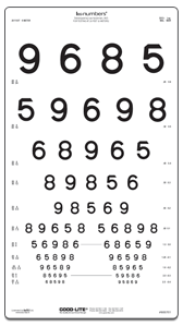 LEA NUMBERS® Proportional Spaced Distance Chart