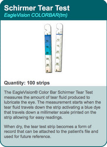 Schirmer Tear Test Color Bar