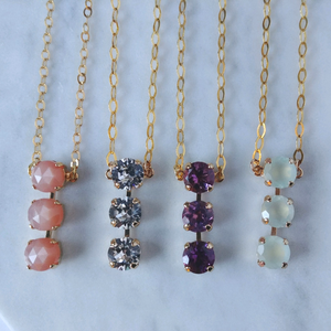 The Tracey - Chic Triple Gemstone Necklace
