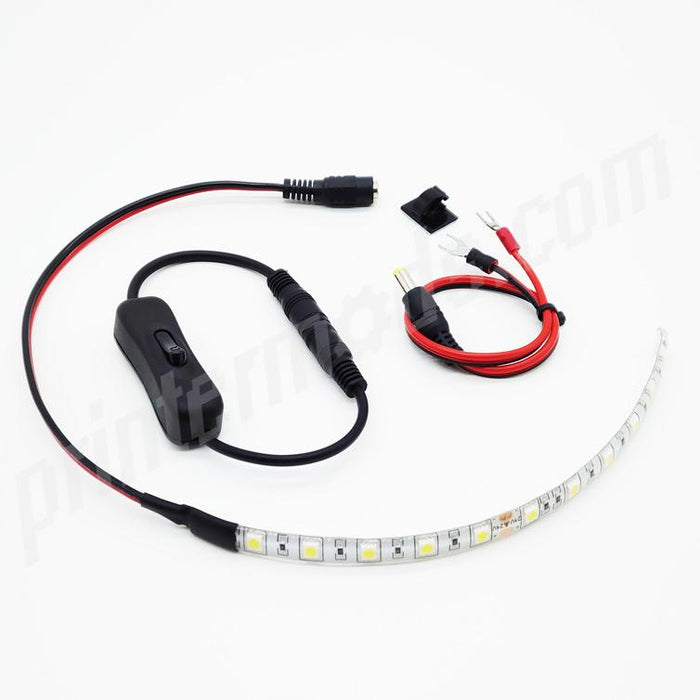 LED Lighting Kit for 3D Printers - V-Slot Rail Version - PrinterMods - 3D Printer Accessories - Ender-3 Direct Drive - LED Kits - Other Cool Stuff