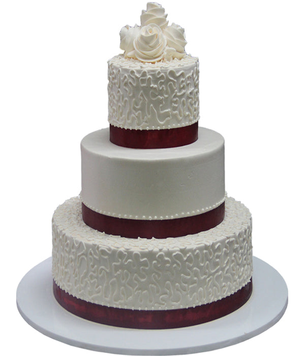 Wedding Three Tier Cake 100406