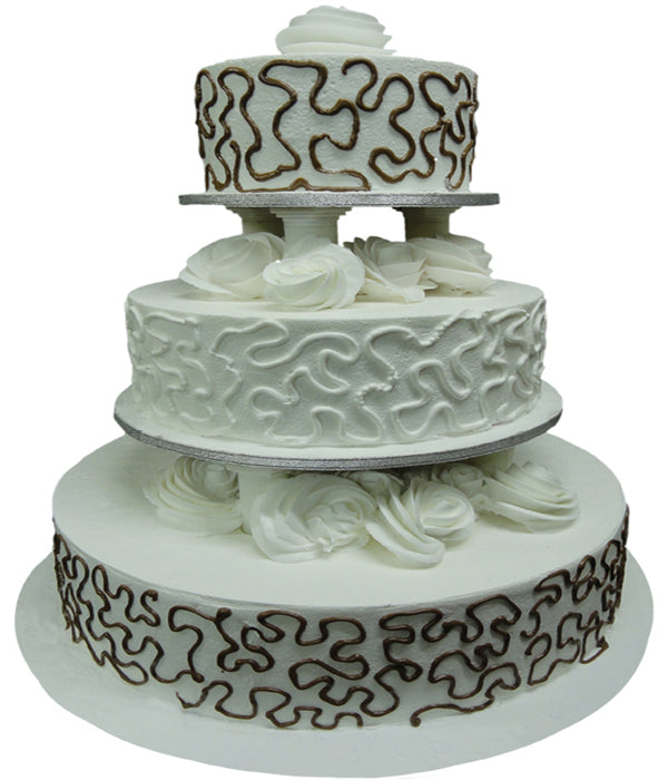 Wedding Three Step Cake 100408