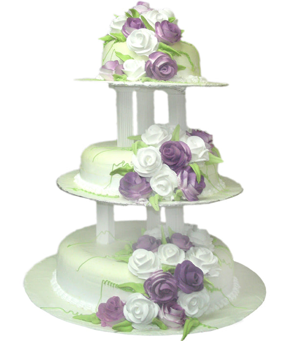 Wedding Three Step Cake 100419