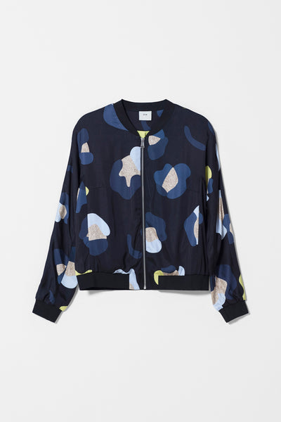 Poppy Print Lightweight Jacket Front