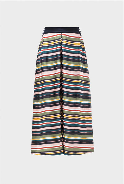Anitra Bright Stripe Midi Skirt Front BRIGHT STRIPE