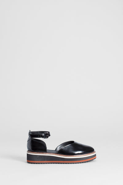 Beson Leather Sandals Side | BLACK