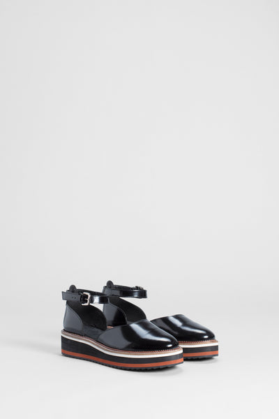 Beson Leather Sandals Front | BLACK