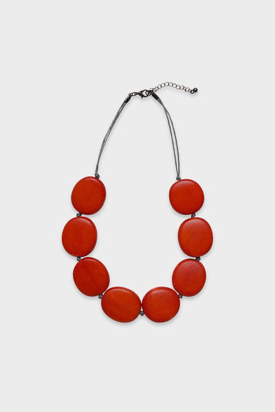 Flat Round Disc Necklace