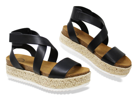 MVE Shoes ~ Sunny Womens Casual Espadrilles Sunny Black