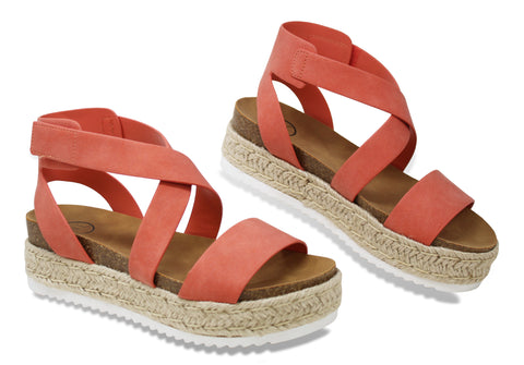 MVE Shoes ~ Sunny Womens Casual Espadrilles Sunny Coral