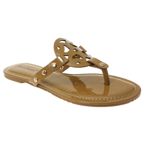 Slip On Open Toe Fashion Sandals Limit 20 Mocha