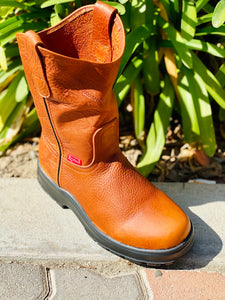 Women work boots high, 100% genuine leather!