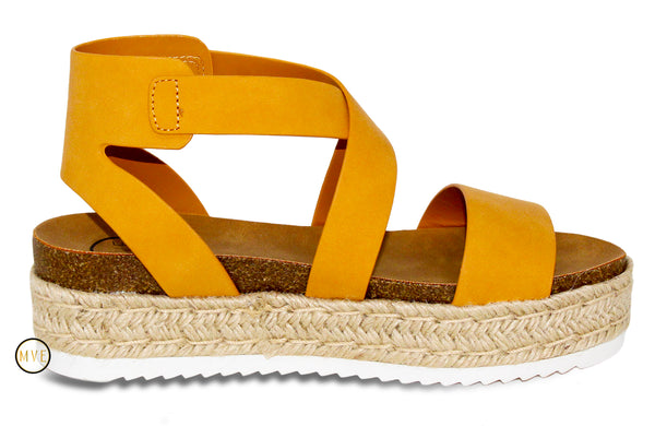MVE Shoes ~ Sunny Womens Casual Espadrilles Sunny Mustard
