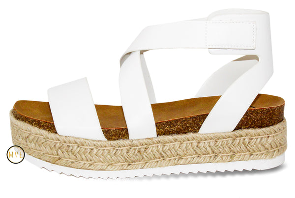MVE Shoes ~ Sunny Womens Casual Espadrilles Sunny White