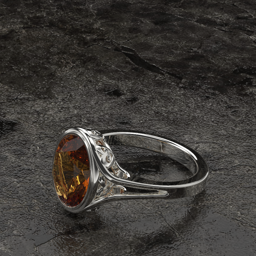 Sankofa Garnet Basket Ring