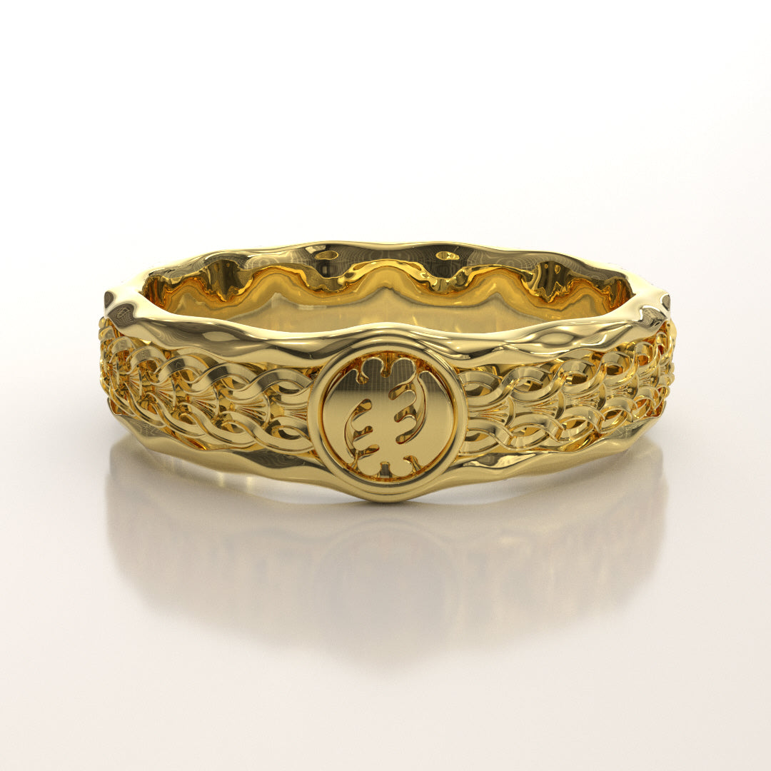 Gye Nyame Sculptured Scroll Band