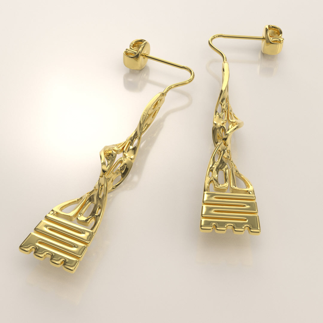 Nkyinkyim Twist Earring