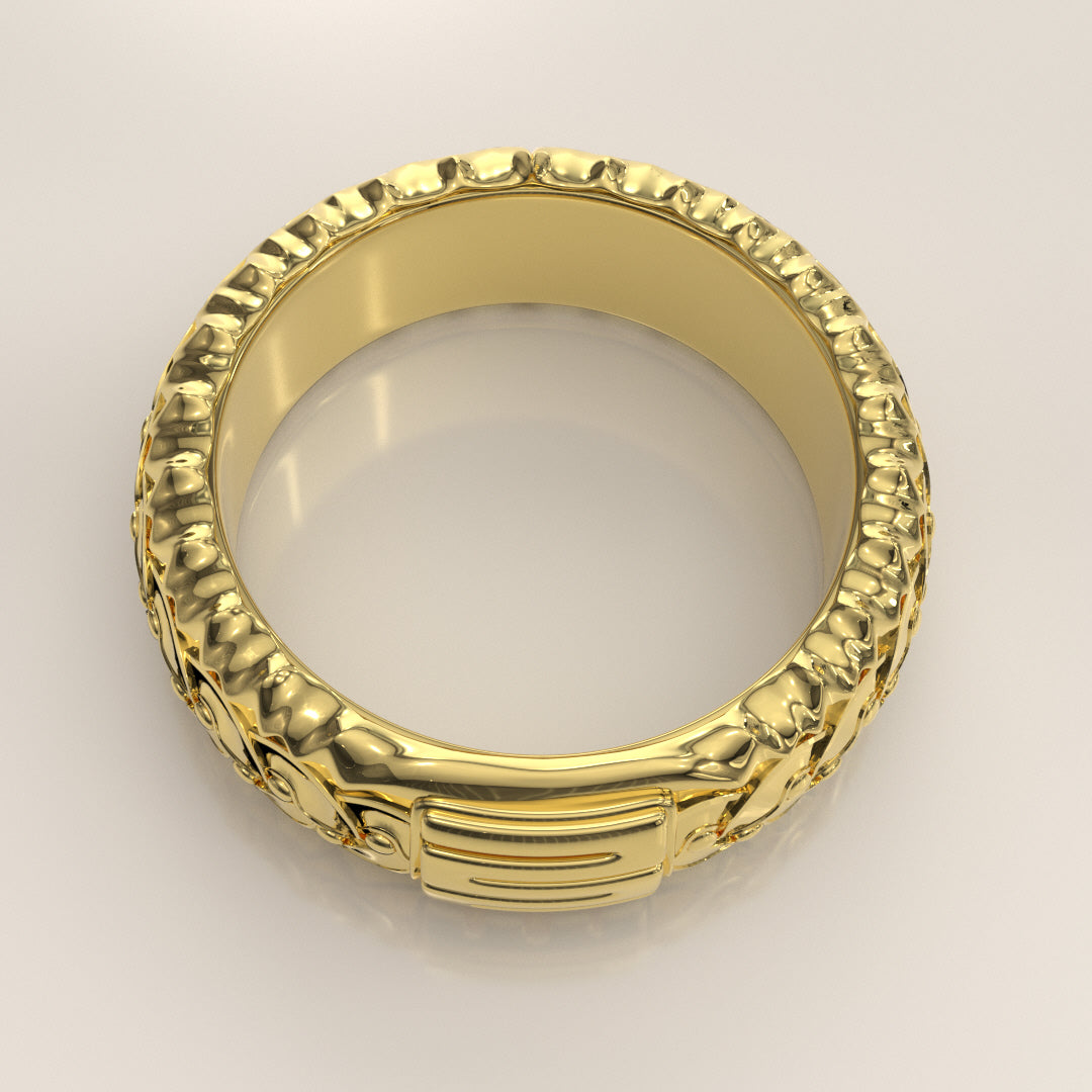 Nkyinkyim Ring Gold