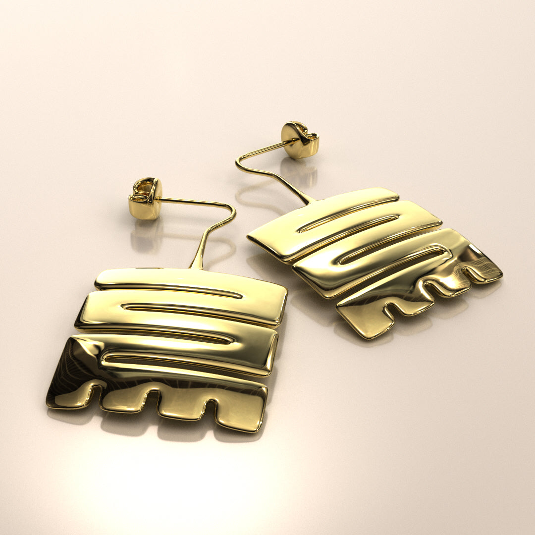 Nkyinkyim Earrings