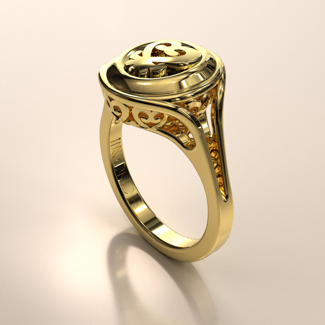 Sankofa Basket Ring