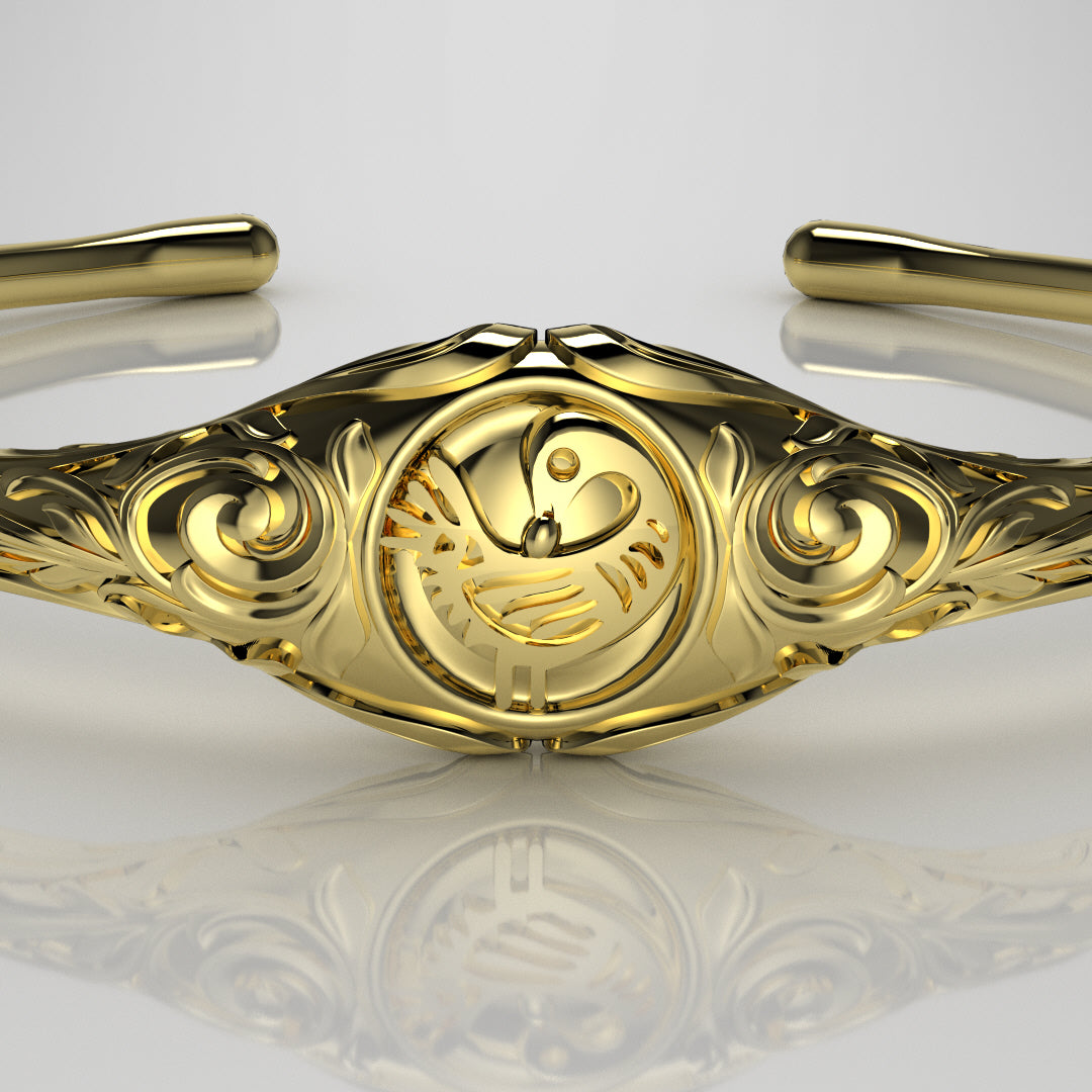Sankofa Bird Scroll Bangle
