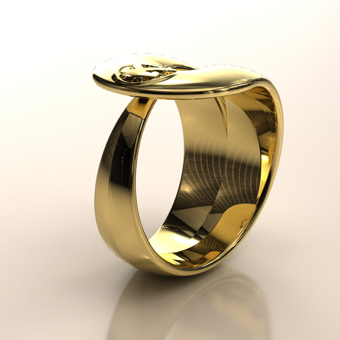 Sankofa Ribbon Ring