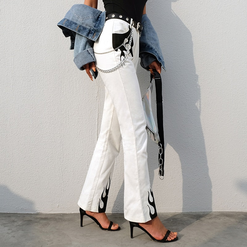 White Flame Pants