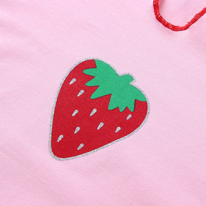 Strawberry Print Top